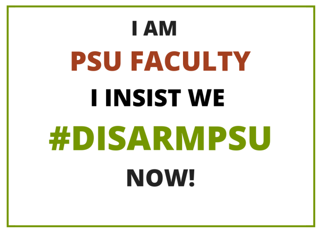 PSU Faculty Disarm