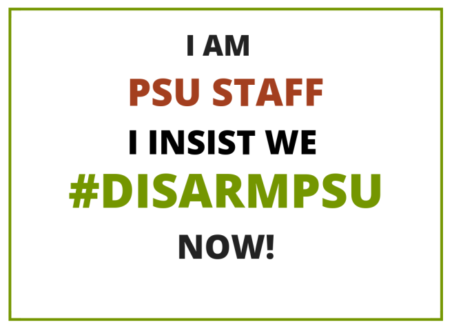 PSU Staff Disarm